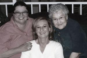 Dawn Irene & Granny b-w