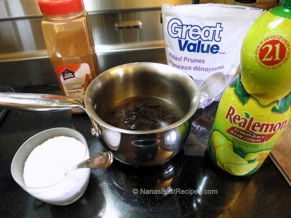 Ingredients for Stewing Prunes