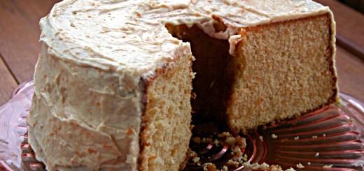 Rhubarb Chiffon Cake