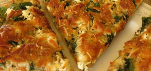 Spinach and Feta Cheese Pizza-005