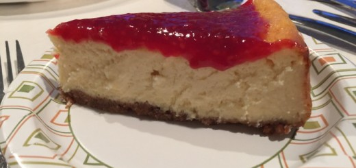 Ricotta Cheesecake with Raspberry Sauce-007