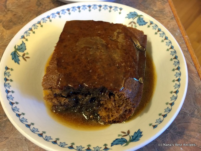 Gingerbread Spice Cake with Caramel Apple Sauce