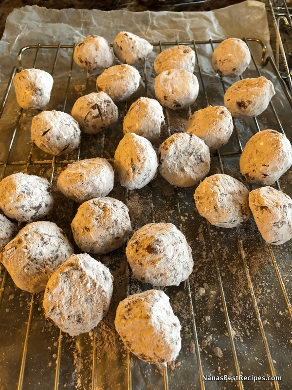 Double Chocolate Snowball Cookies Nana S Best Recipes